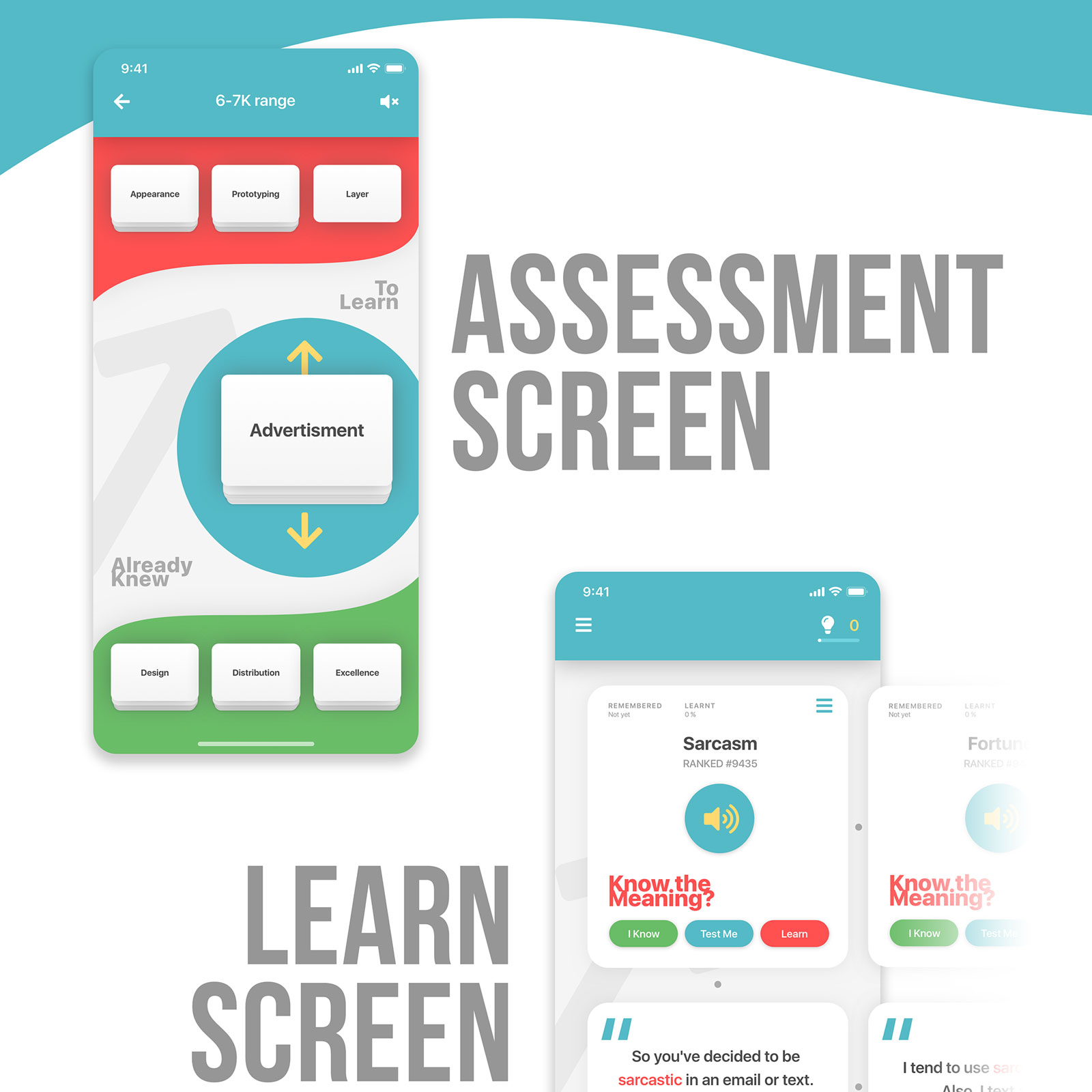 UX Review and UI Design for an English Learning app